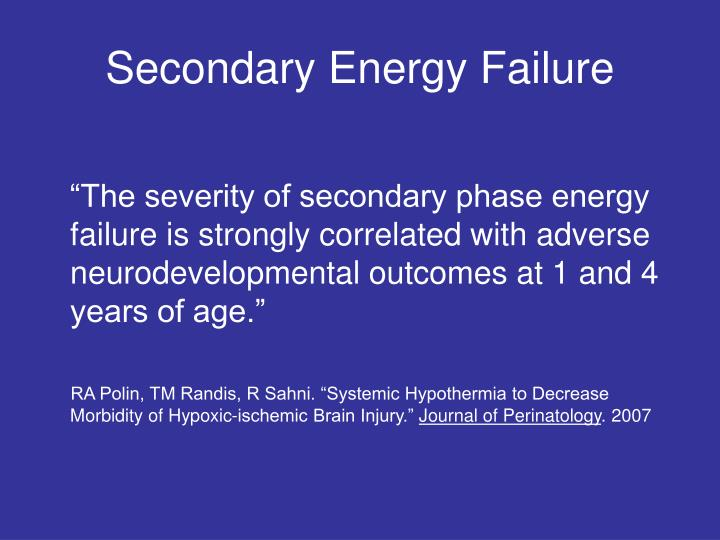 Secondary Energy Failure
