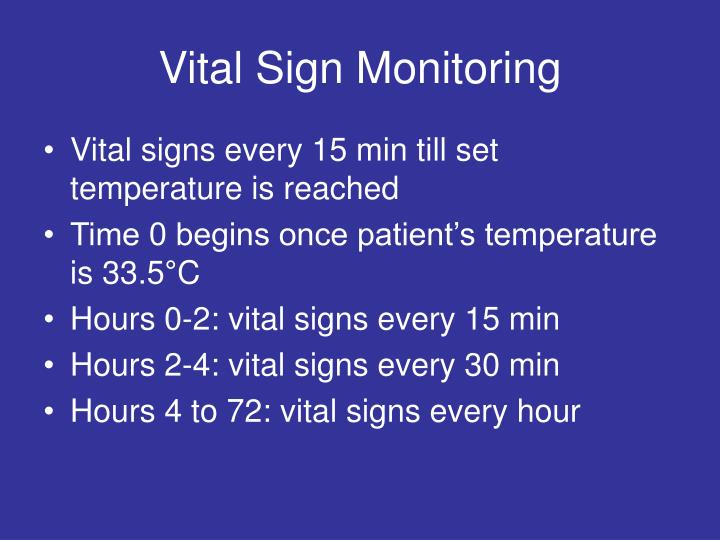 Vital Sign Monitoring