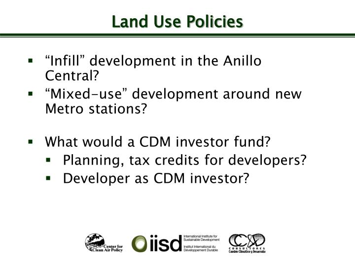 Land Use Policies