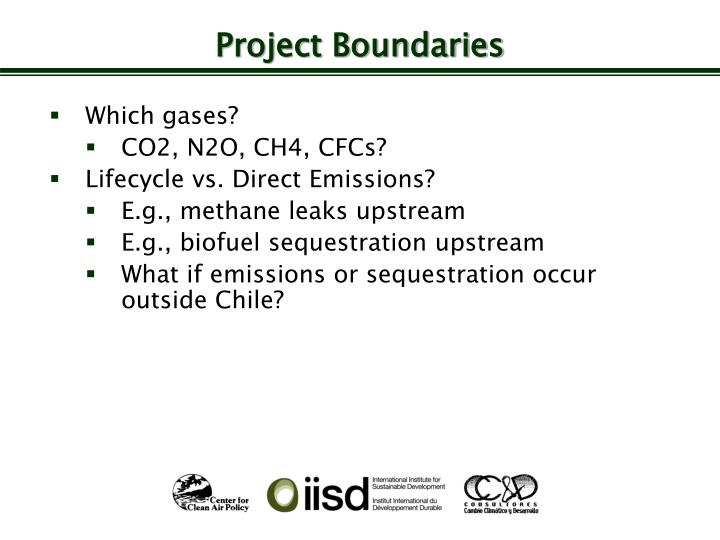 Project Boundaries