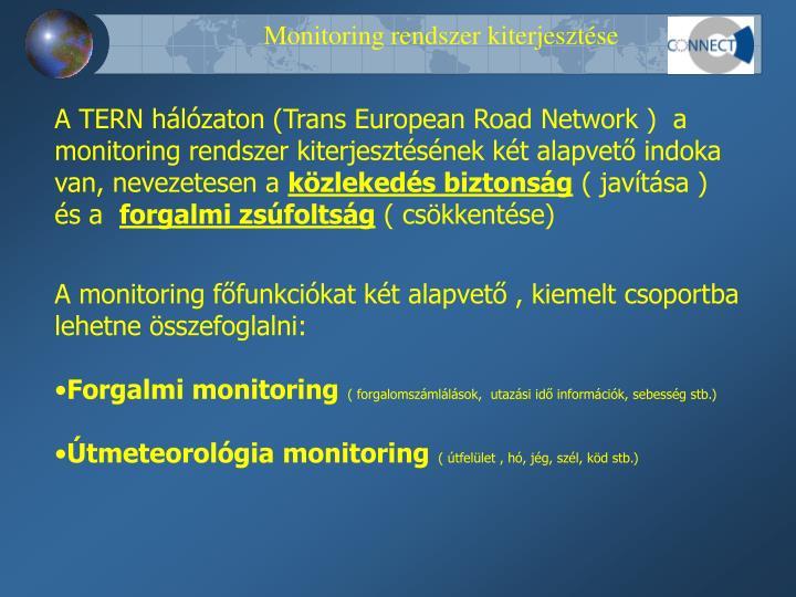 Monitoring rendszer kiterjesztése