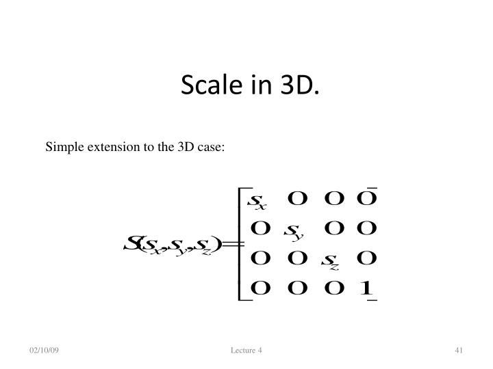 Scale in 3D.
