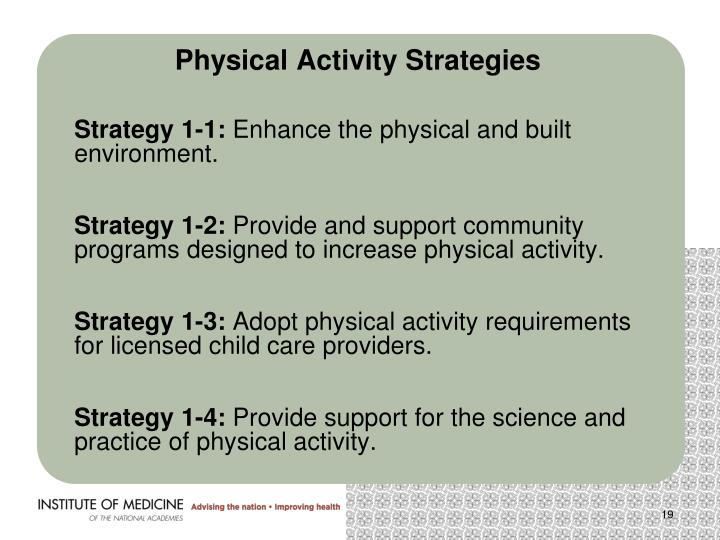 Physical Activity Strategies