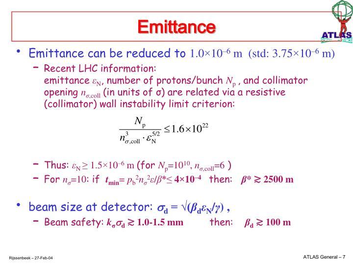 Emittance