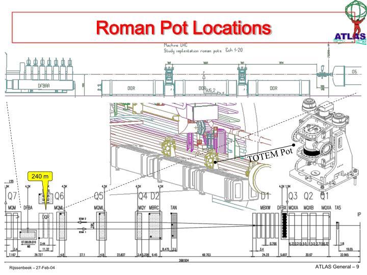 Roman Pot Locations