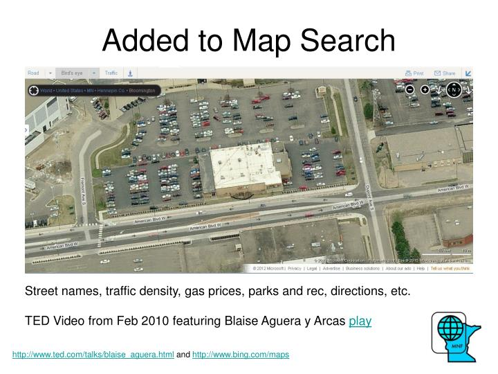 Added to Map Search