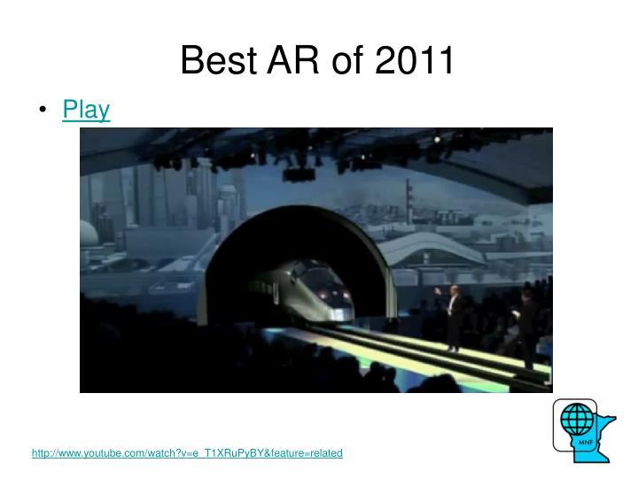 Best AR of 2011