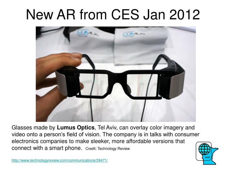New AR from CES Jan 2012