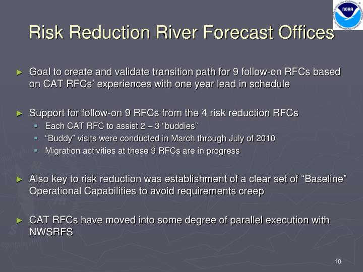 Risk Reduction River Forecast Offices