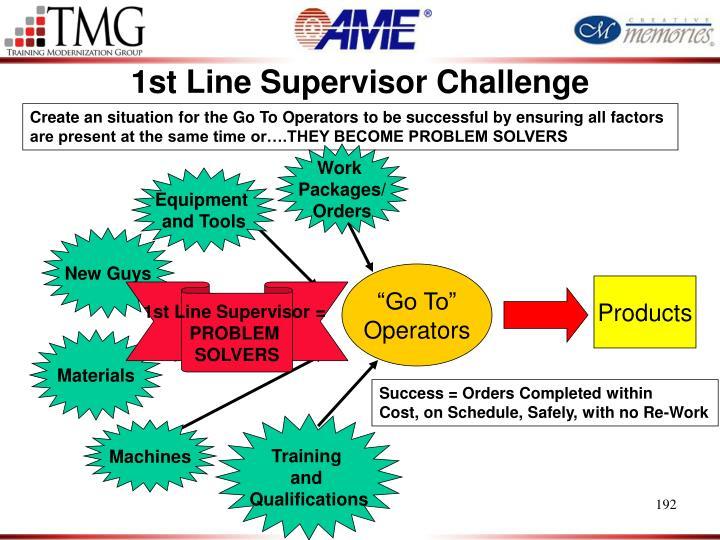 1st Line Supervisor Challenge