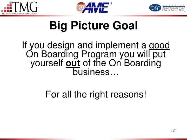Big Picture Goal