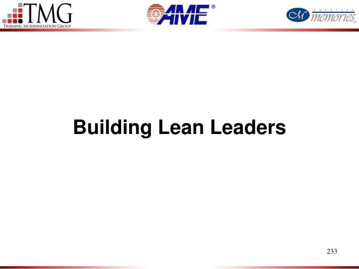 Building Lean Leaders