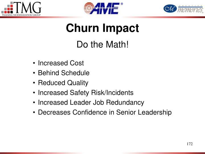 Churn Impact