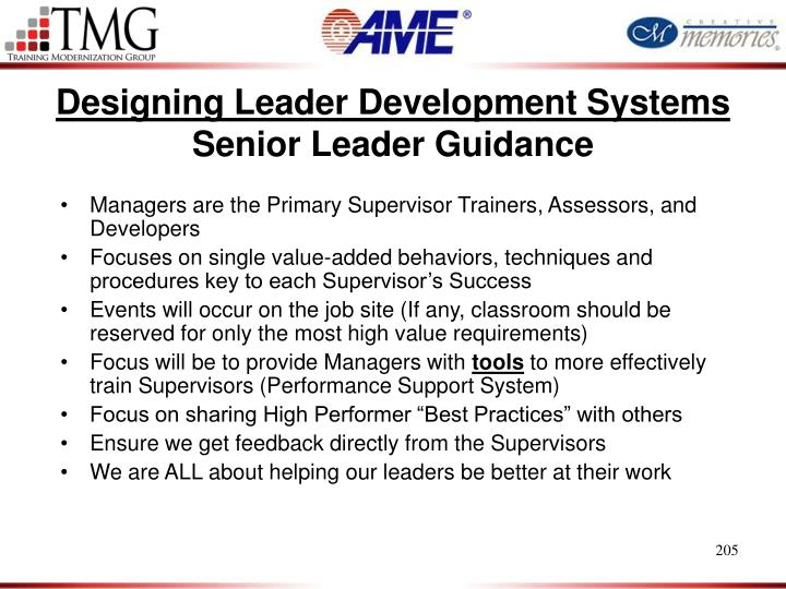 Designing Leader Development Systems