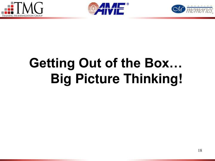 Getting Out of the Box…