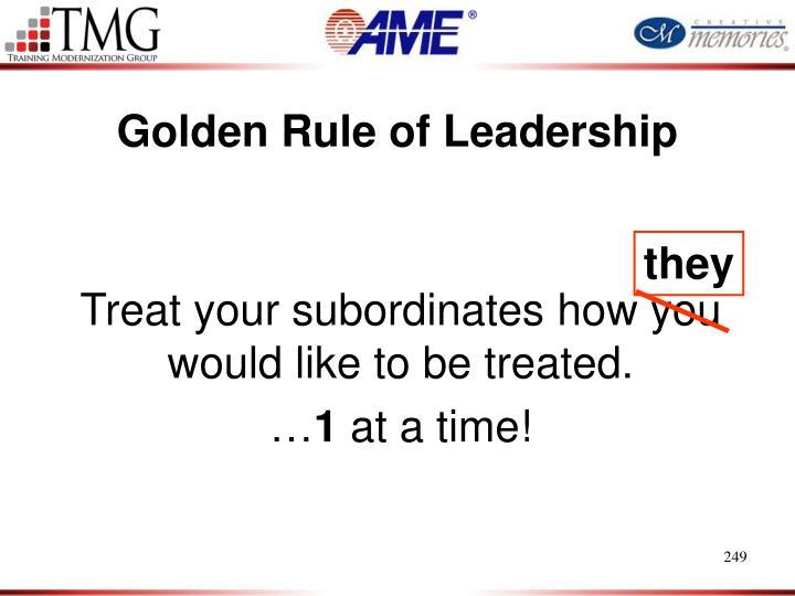 Golden Rule of Leadership