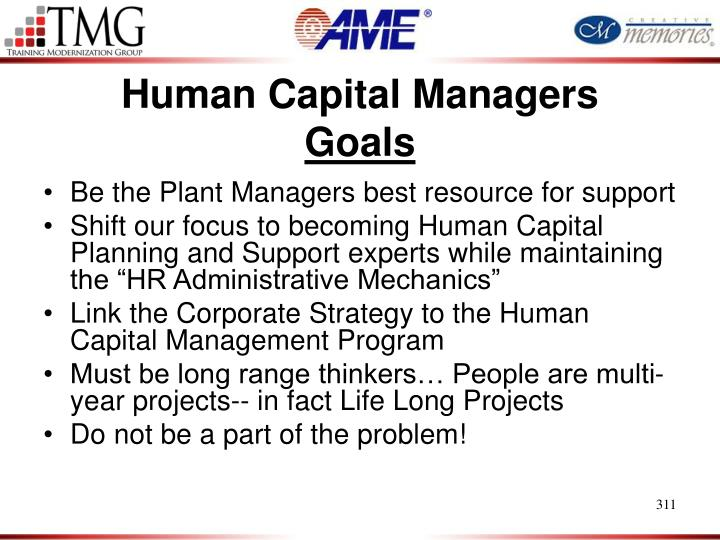 Human Capital Managers