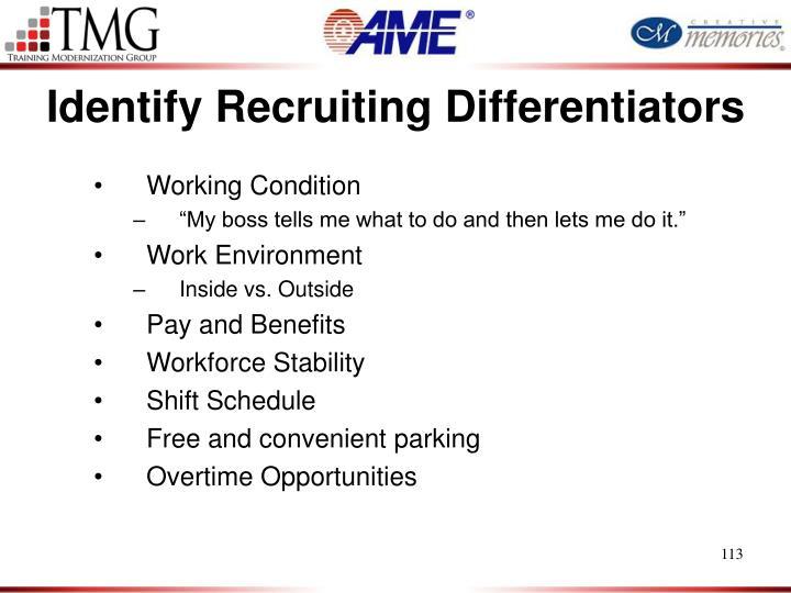 Identify Recruiting Differentiators