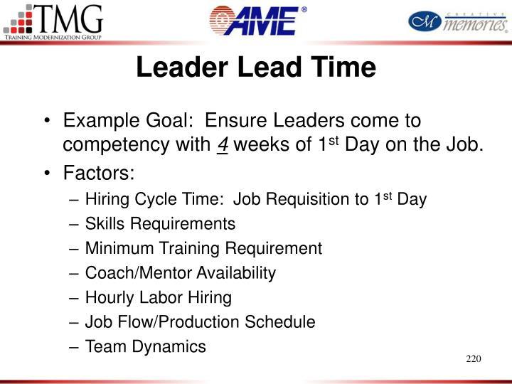 Leader Lead Time