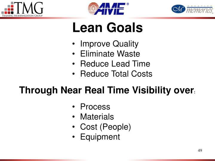 Lean Goals