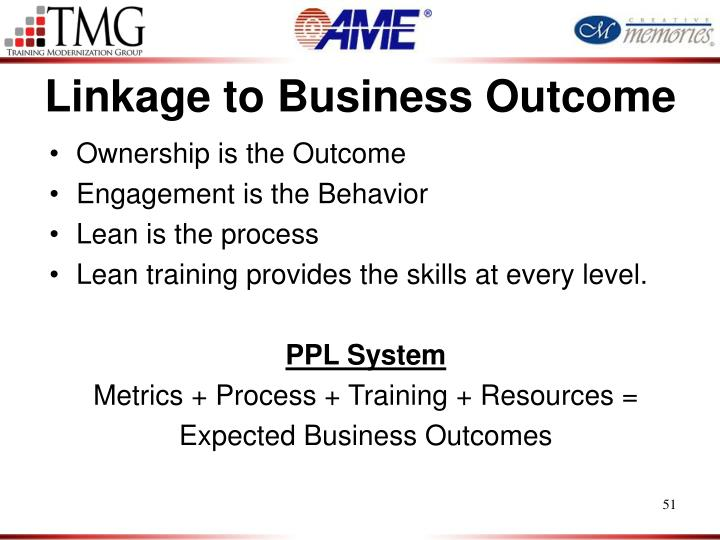 Linkage to Business Outcome