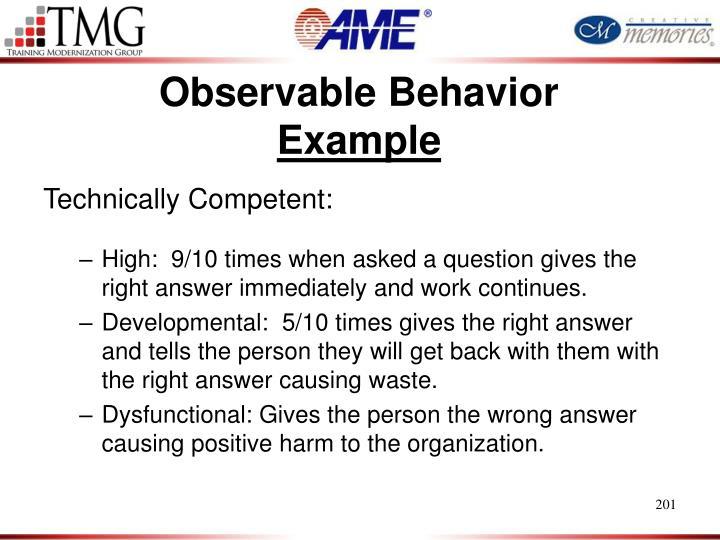 Observable Behavior
