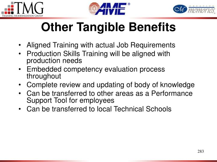 Other Tangible Benefits