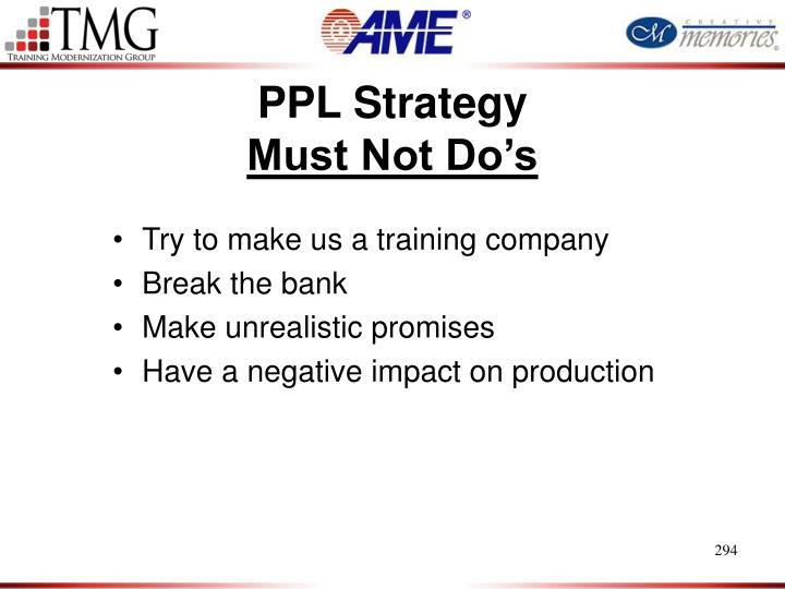 PPL Strategy