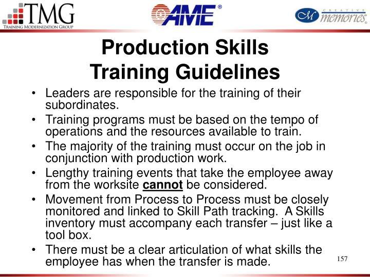 Production Skills