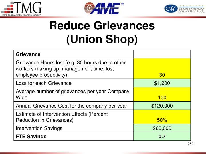 Reduce Grievances