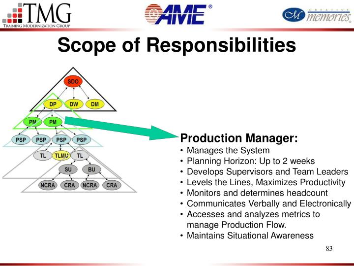 Scope of Responsibilities