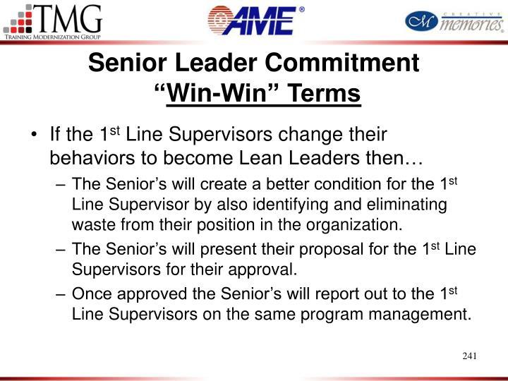 Senior Leader Commitment