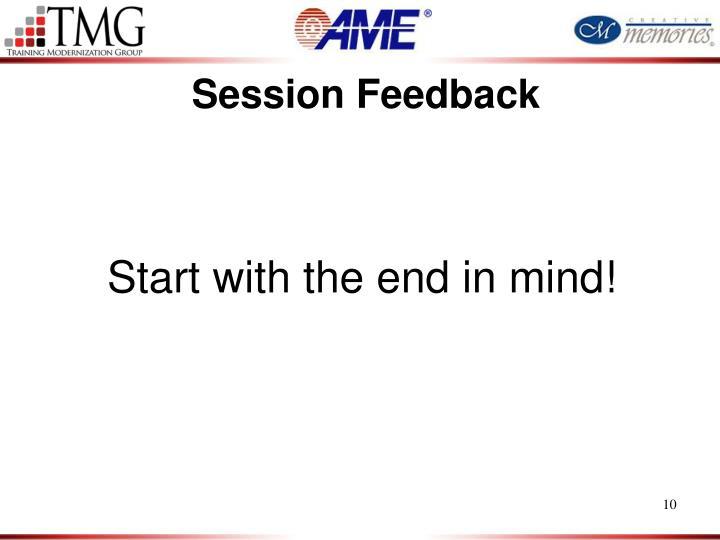 Session Feedback