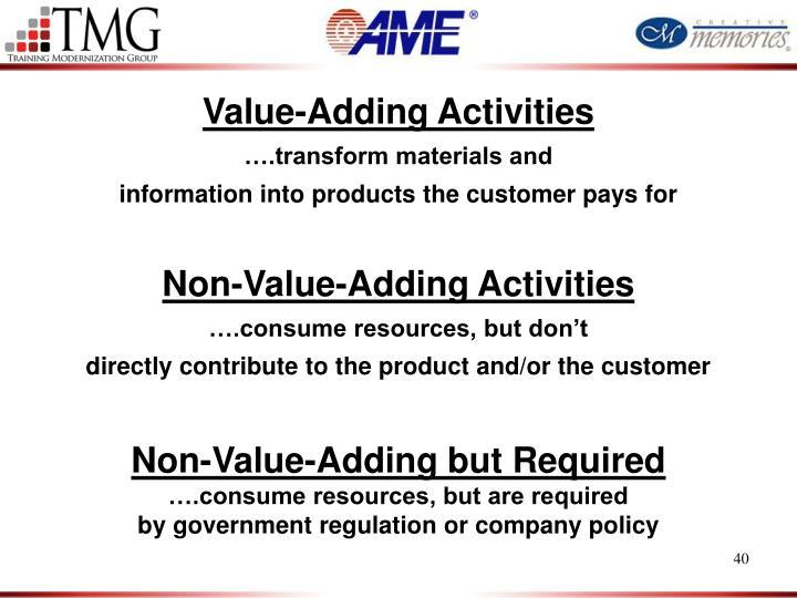 Value-Adding Activities
