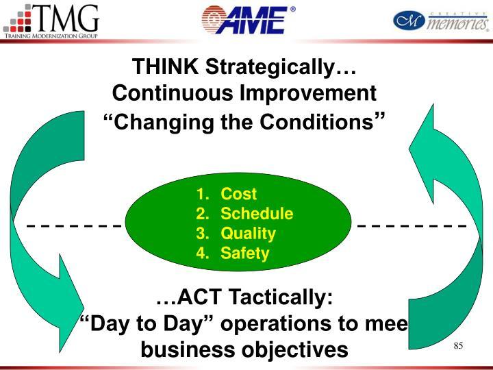 THINK Strategically…