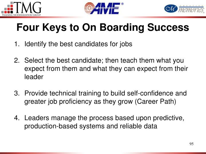 Four Keys to On Boarding Success