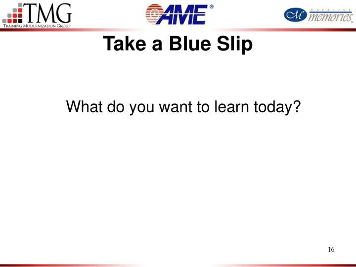 Take a Blue Slip