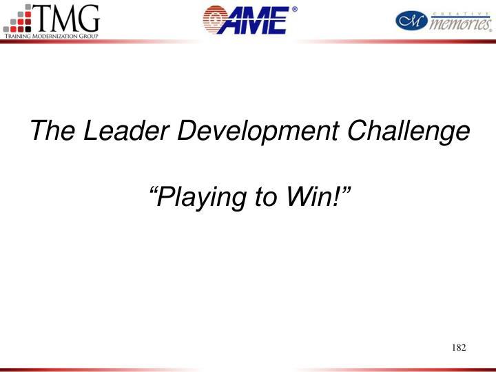 The Leader Development Challenge