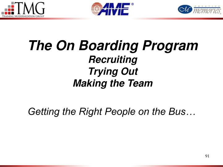 The On Boarding Program
