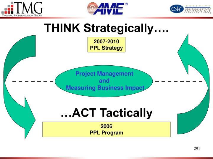 THINK Strategically….