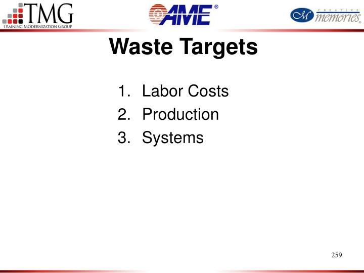 Waste Targets