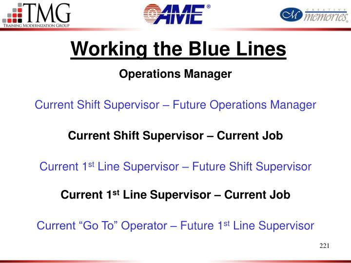 Working the Blue Lines