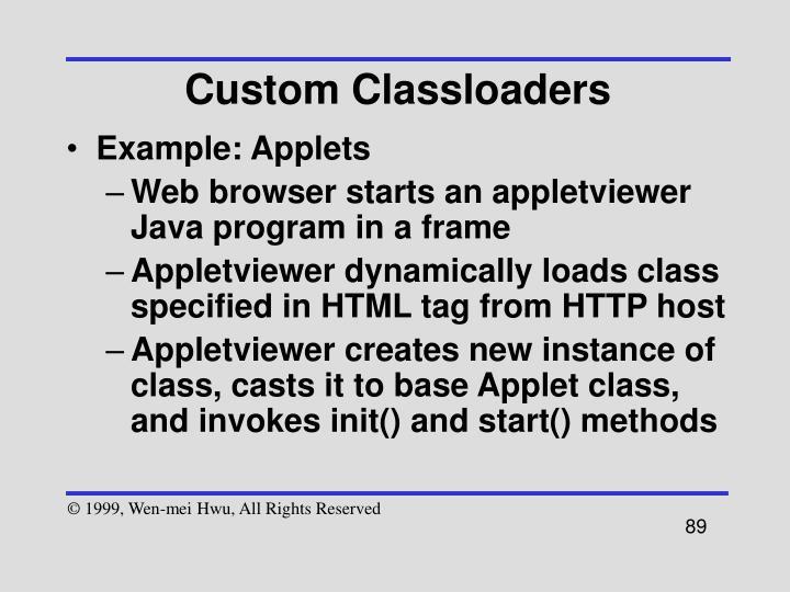Custom Classloaders