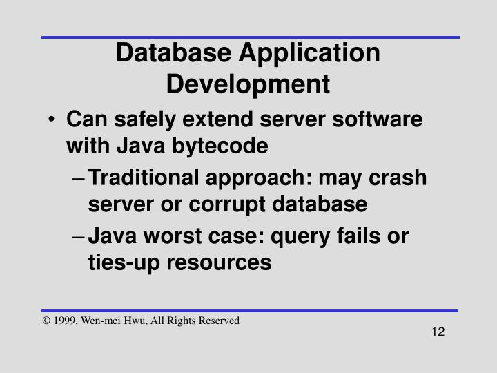 Database Application Development