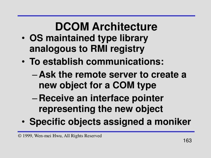 DCOM Architecture