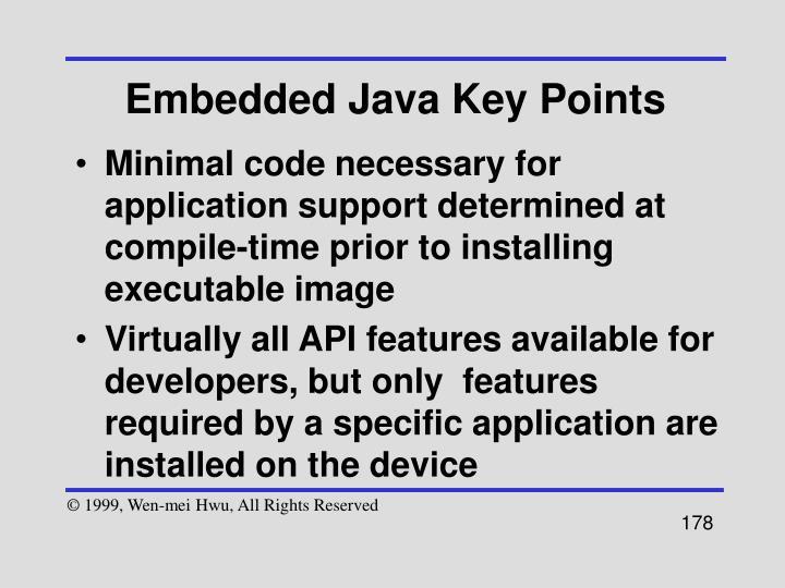 Embedded Java Key Points
