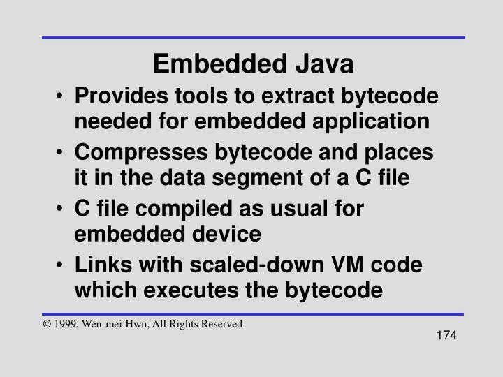 Embedded Java