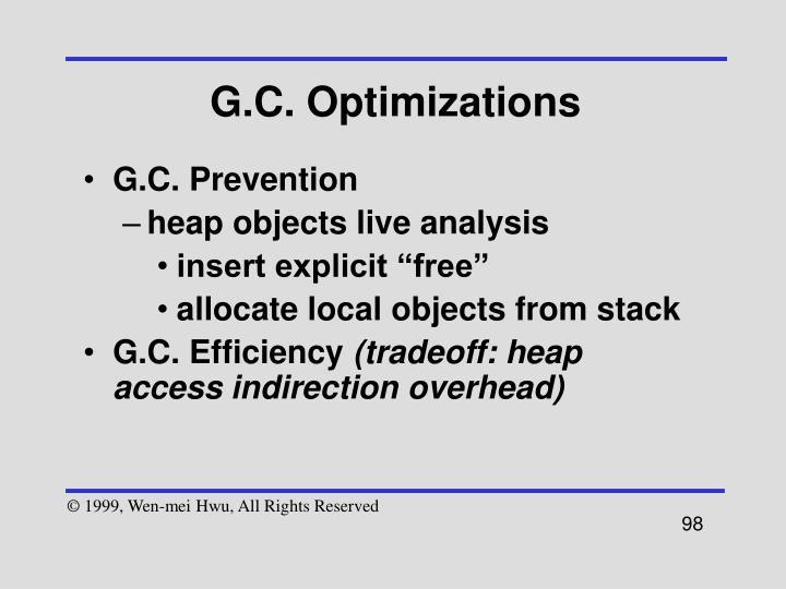 G.C. Optimizations