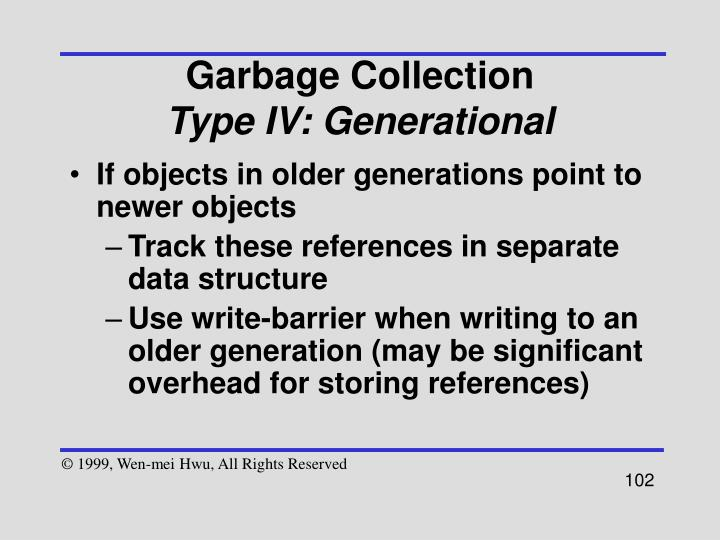 If objects in older generations point to newer objects