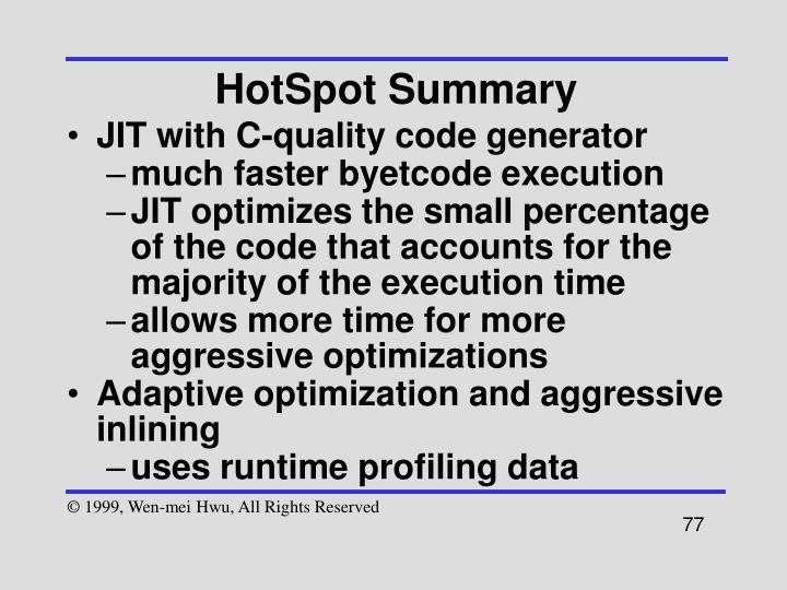 HotSpot Summary